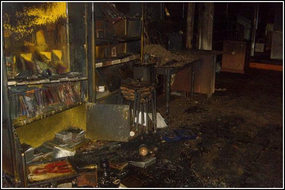 Результат пожара храма в Ленино, Татарстан