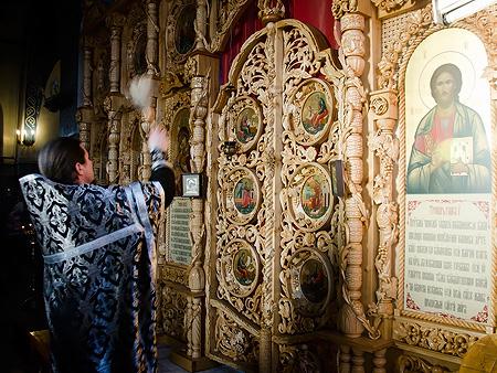 Освящение новых икон Боровецкого храма